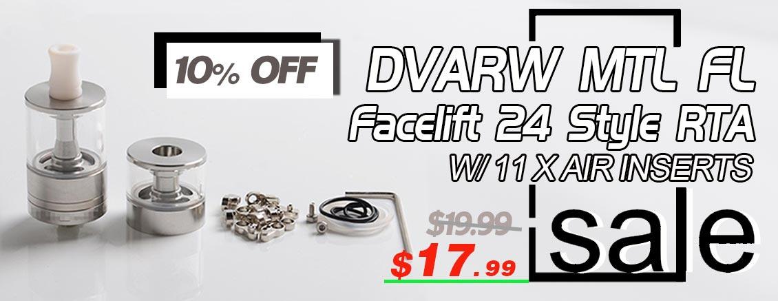 Dvarw MTL FL Facelift 24 Style RTA  w/ 11 x Air Inserts