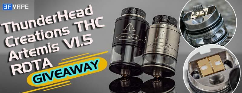 ThunderHead Creations THC Artemis V1.5 RDTA Giveaway