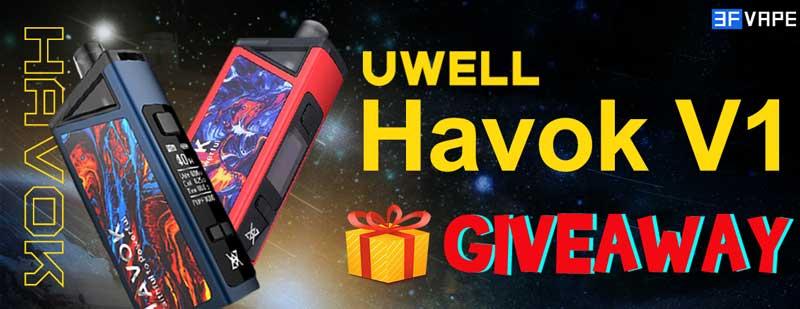 Uwell Havok V1 Pod Mod Kit Giveaway