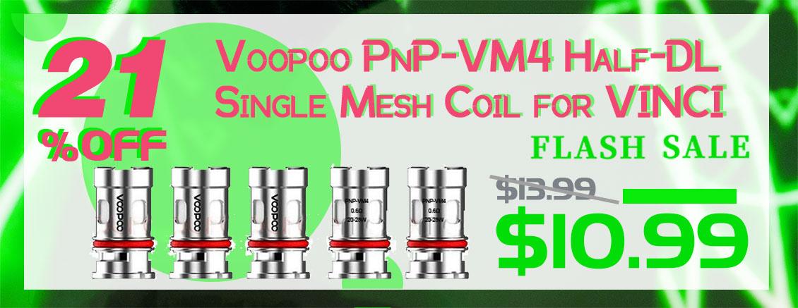Voopoo PnP-VM4 Half-DL Single Mesh Coil for VINCI 0.6ohm