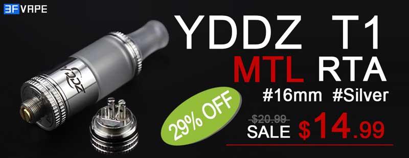 YDDZ T1 MTL RTA 16mm Flashsale