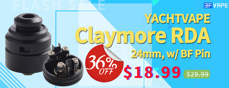 Yachtvape Claymore RDA Black Flash Sale