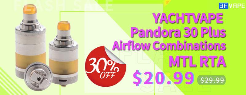 Yachtvape Pandora MTL RTA Flash Sale