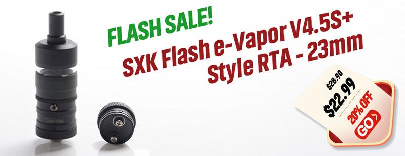 SXK Flash-e-Vapor V4.5 S+ RTA Black Flash Sale