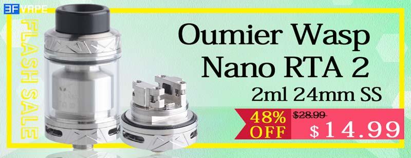 Oumier Wasp Nano RTA 2 2ml 24mm SS Flash Sale